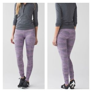 Lululemon Speed Tight IV Space Dye Camo Violet